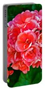 Pink Geraniums At Pilgrim Place In Claremont-california Portable Battery Charger