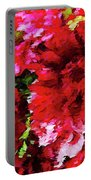 Red Gerbera Daisy Abstract Portable Battery Charger