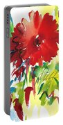 Red Gerberas Portable Battery Charger