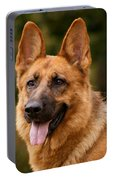 Red German Shepherd Dog Portable Battery Charger