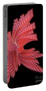 Red Glass Abstract Portable Battery Charger