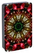 Red Gold Green Kaleidoscope 1 Portable Battery Charger
