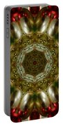 Red Gold Kaleidoscope 1 Portable Battery Charger