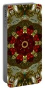 Red Gold Kaleidoscope 2 Portable Battery Charger