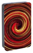 Have A Closer Look. Red-golden Spiral Art Portable Battery Charger