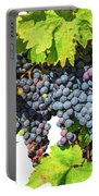 Red Grapes Seasonal Background Portable Battery Charger