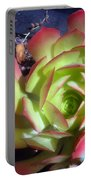 Red Green Succulent Portable Battery Charger