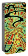 Red Green Yellow And Black Abstract Portable Battery Charger