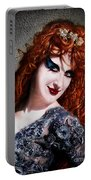 Red Hair, Gothic Mood. Model Sofia Metal Queen Portable Battery Charger