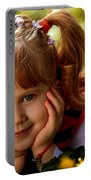 Red Haired Girl Portable Battery Charger