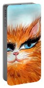 Red-haired Sofia The Cat Portable Battery Charger