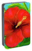 Red Hawaii Hibiscus #238  Portable Battery Charger