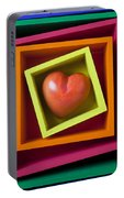 Red Heart In Box Portable Battery Charger
