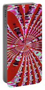 Red Heavy Screen Abstract Portable Battery Charger