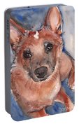 Red Heeler Pup Portable Battery Charger