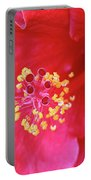 Red Hibiscus 3 Portable Battery Charger