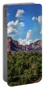 Red Hills And Green Tress Portable Battery Charger