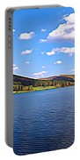 Red House Lake Allegany State Park Expressionistic Effect Portable Battery Charger