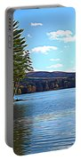 Red House Lake Allegany State Park In Autumn Expressionistic Effect Portable Battery Charger