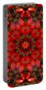 Red Kaleidoscope No. 1 Portable Battery Charger