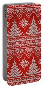 Red Knitted Winter Sweater Portable Battery Charger