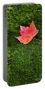 Red Leaf Green Moss Portable Battery Charger