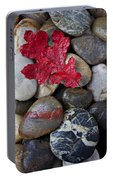 Red Leaf Wet Stones Portable Battery Charger