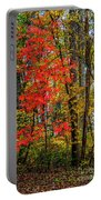 Red Leaves Of Autumn Portable Battery Charger