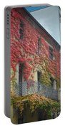 Red Leaves Of Fall Portable Battery Charger