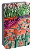 Red Lillies 2 Portable Battery Charger