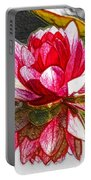 Red Lotus Flower Portable Battery Charger