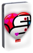 Red Love Heart Portable Battery Charger