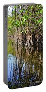 Red Mangrove Roots Reflections In The Gordon River Portable Battery Charger