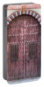 Red Medieval Wood Door Portable Battery Charger