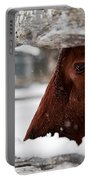 Red Milking Devon Snowflakes Portable Battery Charger