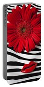 Red Mum And Red Lips Portable Battery Charger