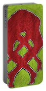 Nude Yoga Girl Red Portable Battery Charger