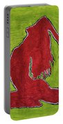 Red Nude Yoga Girl Portable Battery Charger