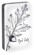 Red Oak Leaf And Acorn Portable Battery Charger