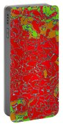 Red Orange Green Abstract Painting Portable Battery Charger