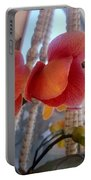 Red Orchid Flowers 01 Portable Battery Charger