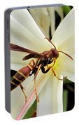 Red Paper Wasp And Spider Lily 001 Portable Battery Charger
