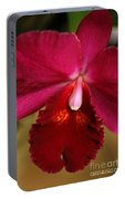 Red Passion Orchid Portable Battery Charger