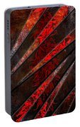 Red Pepper Abstract Portable Battery Charger