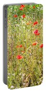 Red Poppies And Wild Flowers Portable Battery Charger