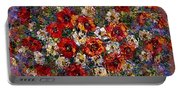 Red Poppies Bouquet Portable Battery Charger