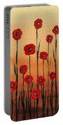 Red Poppies Decorative Art Portable Battery Charger