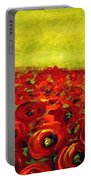 Red Poppies Field  Portable Battery Charger