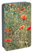 Red Poppies In A Summer Sun Portable Battery Charger