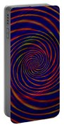 Red Purple Blue Orange Spiral Pattern Portable Battery Charger